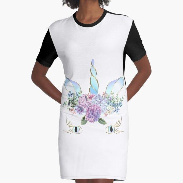 I Believe in Unicorns  Graphic T-Shirt Dress