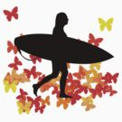 Butterfly surf - Wave rider  by Janice E. Sheen