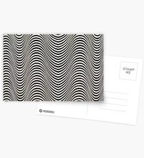 Black and white waves Postcards