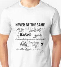 Camiseta unisex Canciones Camila