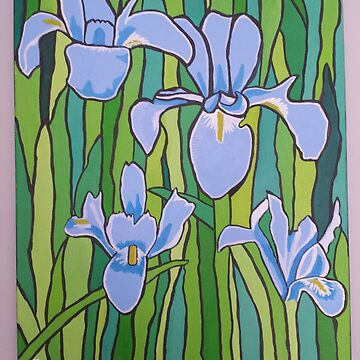 blue iris by Mistresslisa666