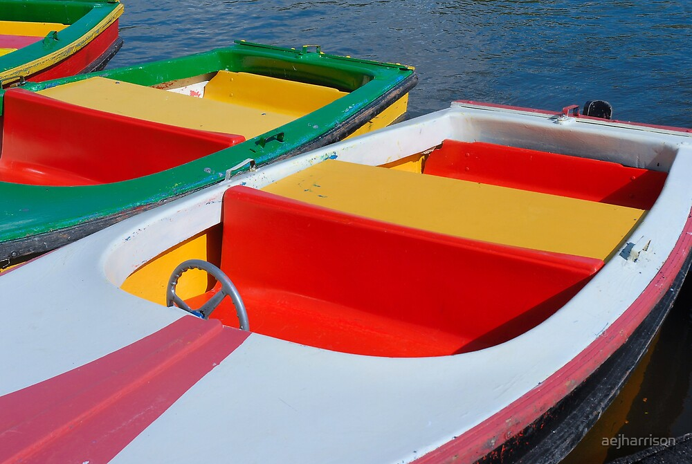 Colourful Boats by aejharrison