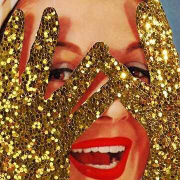 Gold glitter by kikicollagist