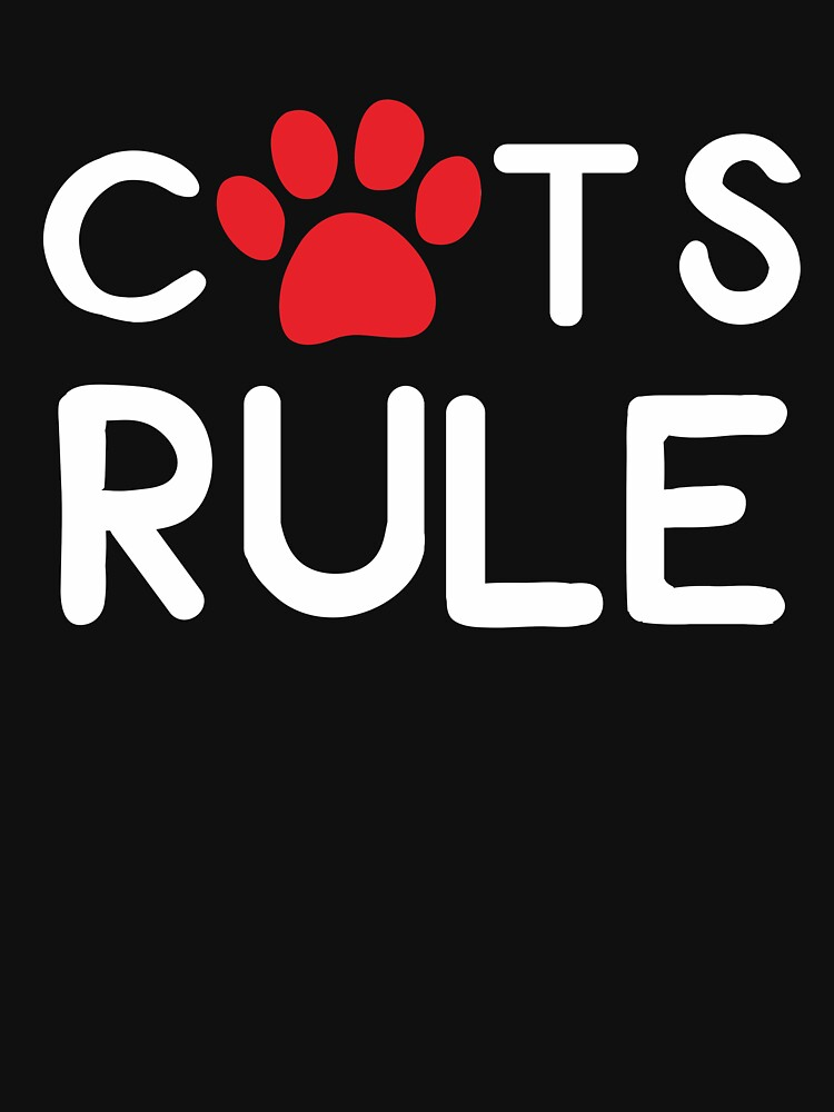 Gift ideas for Cat lovers: Cats Rule by Dogvills
