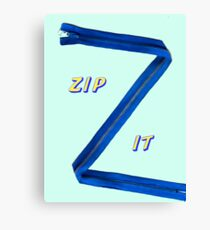 Zip-It Canvas Print