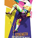 WALL CLIMBING - Strength, Persistence, Effort by toni-agustian