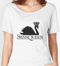 Swan Queen Black Women's Relaxed Fit T-Shirt