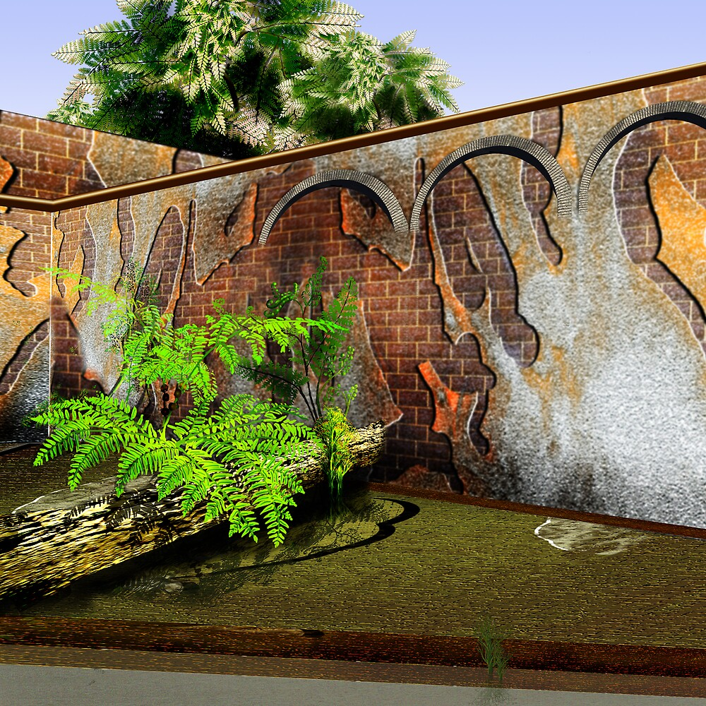 Old Brick Wall by Lepi3