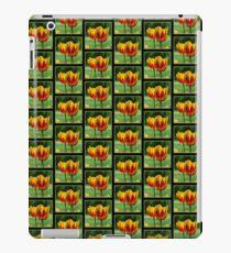 Yellow red tulips iPad Case/Skin