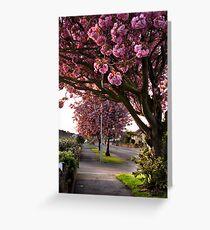 Suburban Spring Greeting Card