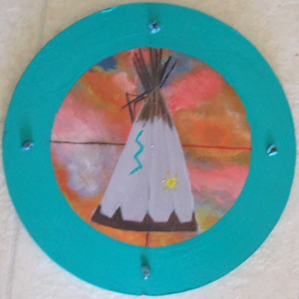 Circle Tepee by ArtByLinda