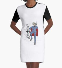 Soft Horizon Relaxed God Graphic T-Shirt Dress