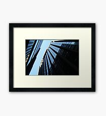 Office Glass Framed Print