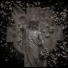 Fine Art Photograph Made With Toy Camera - Angel Memorial Monument Statue by Christopher Ball