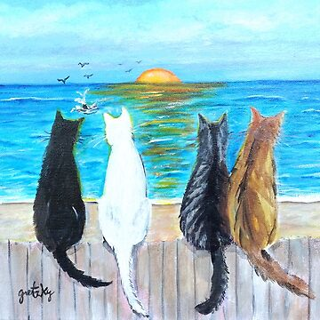 Cat Beach Sunset by gretzky