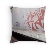 Train Tagging Throw Pillow