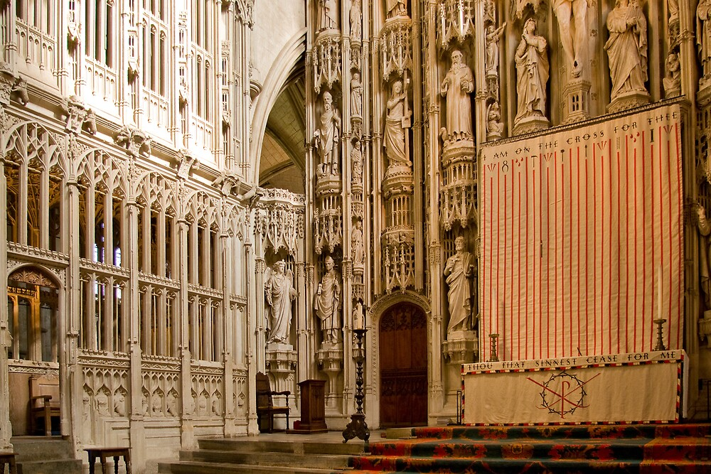 The High Altar, St Albans Cathedral by Geoff Spivey
