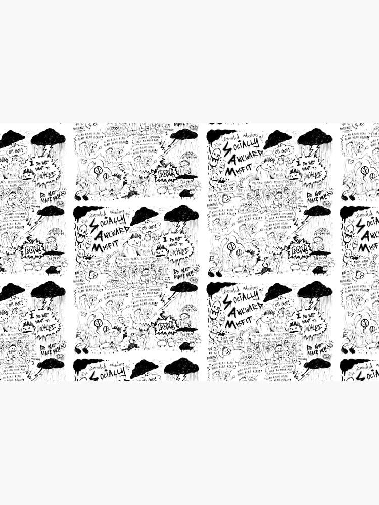Socially Awkward Misfit comic doodles by dizzypop