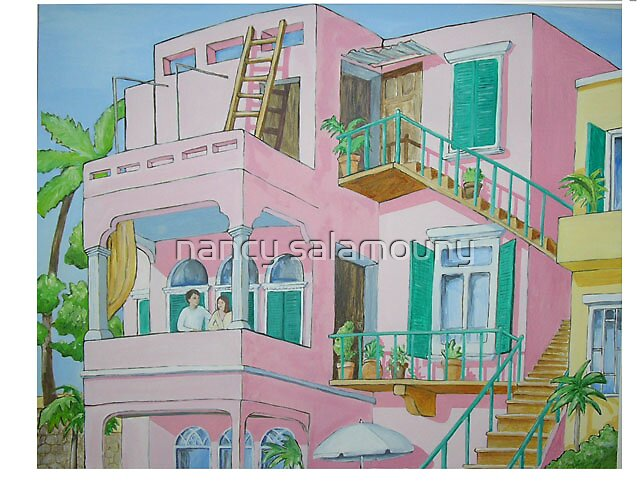 Pink House by nancy salamouny