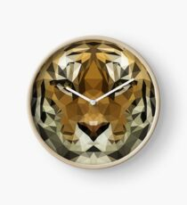 Lowpoly Tiger Face Clock