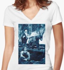 Rural scene Women's Fitted V-Neck T-Shirt