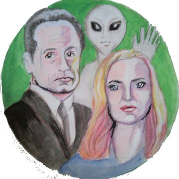 Mulder and Scully get photobombed by Anne2018
