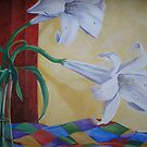 Two White Lilies by nancy salamouny