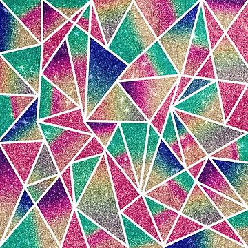 Multicolored Glitter Gradient Geometric Triangles by Blkstrawberry