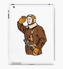 Kamikaze Pilot Saluting Retro iPad Case/Skin