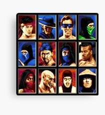 Mortal Kombat II Genesis Character Select Canvas Print