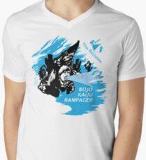The Rolistes Podcast - Kaiju Bojo (Blue Splash) V-Neck T-Shirt