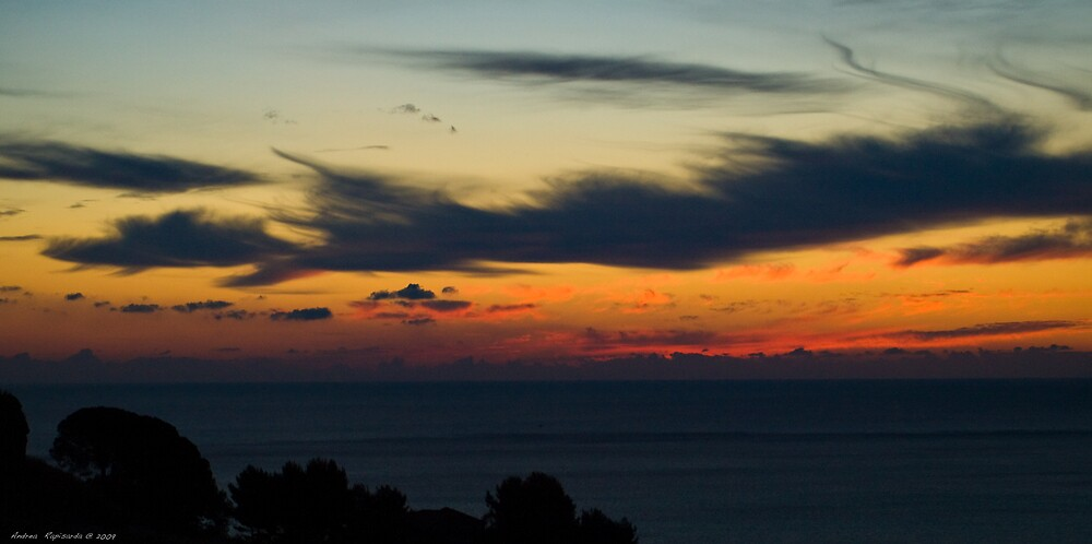 a windy sunrise by Andrea Rapisarda