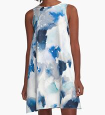 Watercolor Abstract Watercolor A-Line Dress