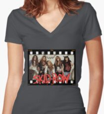 Skid Row Women's Fitted V-Neck T-Shirt
