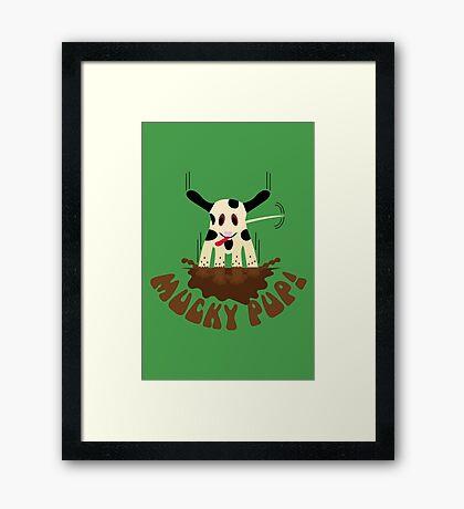 NDVH Mucky Pup! Framed Print