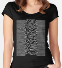 Joy Division - Unknown Pleasures Women's Fitted Scoop T-Shirt