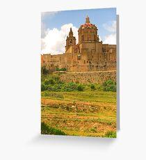 Cathedral at Mdina, Malta Greeting Card