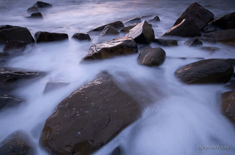 Rocks and Milky Sea by stephen foote