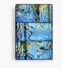 Pond Life - Triptych Canvas Print
