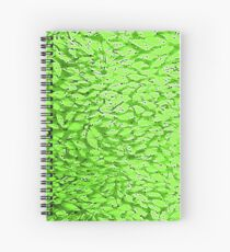 Spring Green and White Leafy Abstract Monoprint from the Sun Dappled Collection Spiral Notebook