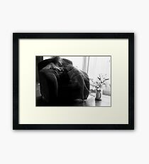 When I'm thinking about you Framed Print