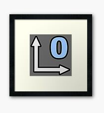 Cinema 4D Null Icon Framed Print