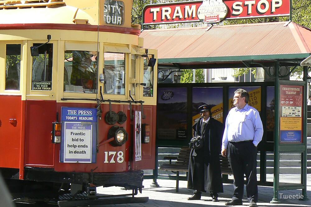 Christchurch Tram by Tweetie