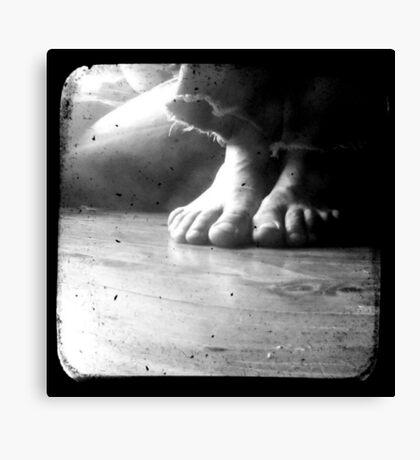 His Feet Canvas Print