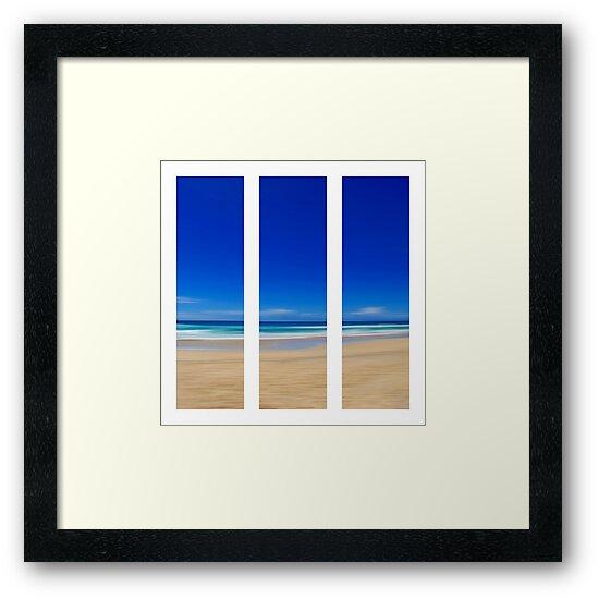 Summertime Blues - Triptych by Kitsmumma
