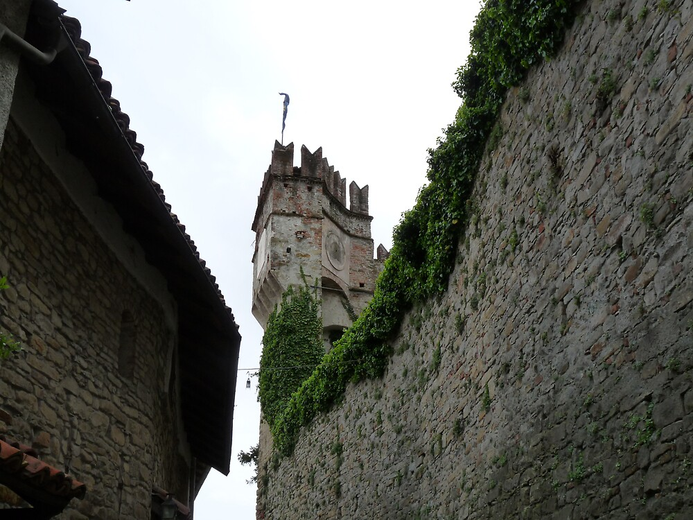 The Castle of Cremolino (Alessandria, Italy), the main tower  by presbi
