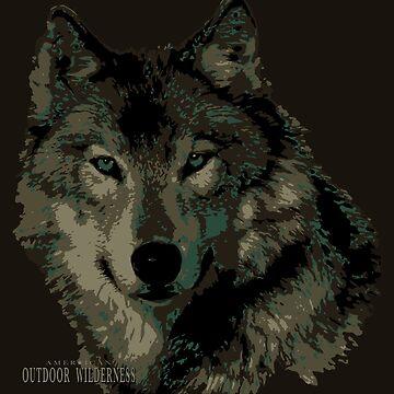 Wolf Camo / American Outdoor Wilderness by sandersart