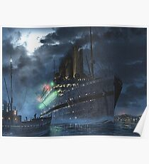 Britannic at night | Painting | Art by Eliott Cha'coco Poster