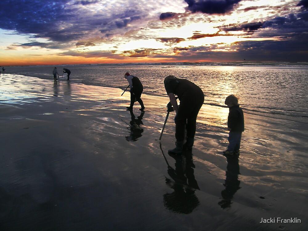 Clam Digging at Dusk by Jacki Franklin