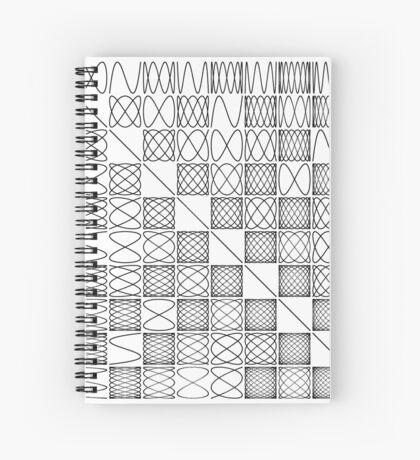 Lissajous VI Spiral Notebook